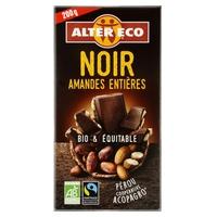 Chocolate negro con almendras enteras bio