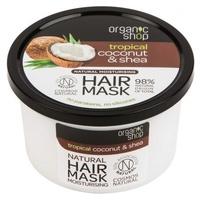 Nawilżająca organiczna maska do włosów z masłem kokosowym i masłem shea (bdih)