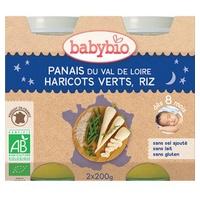 Małe Garnki Pasternak Menu Fasolka Szparagowa Ryż Organiczny (od 8 miesięcy)