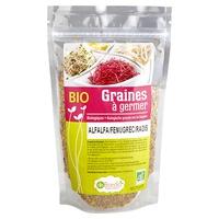 Semillas para germinar - Alfalfa, fenogreco y rábano Bio