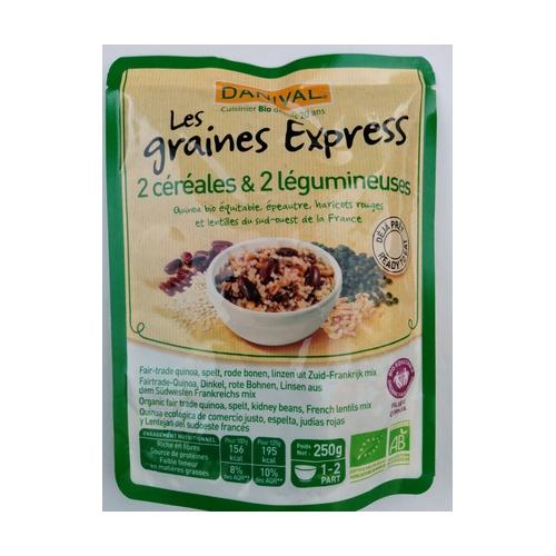 Quinoa, Lentejas, Espeltas y Judías Rojas