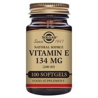Vitamina E 100 cápsulas de 134mg de Solgar