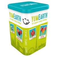 Puszka 50 ekologicznych lizaków owocowych o 8 smakach