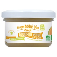 Pear and Melon organic baby puree