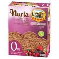 Nuria Chocolate, arándanos rojos y fresas 0%