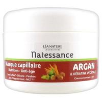 Mascarilla para el cabello con queratina de argán y plantas
