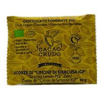 Organic Dark Chocolate with Syracuse Lemon Peels IGP