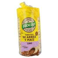 Tortitas de Arroz Maíz y Lino