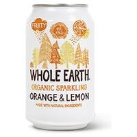 Refresco de naranja y limón sin azúcar bio