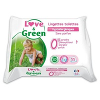 Love & Green Lingettes Toilettes x55