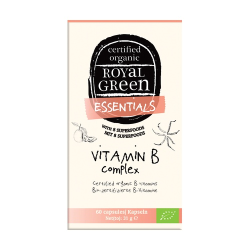 Vitamina B Complex Bio 60 Cápsulas vegetales de Royal Green