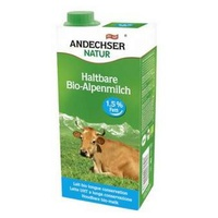 Leche de Vaca Semidesnatada UHT 1,5% Grasa Bio