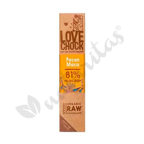Barritas de cacao con nueces y maca 81 % 1 barrita de Vitafood Raw