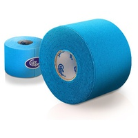 Kinesiology (physiotherapy) tape blue 5cm x 5cm