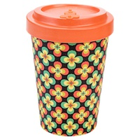 Bamboo Cup Retro Flowers