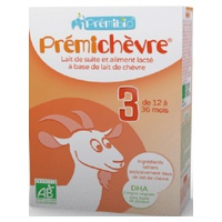 Premichèvre, milk powder growth 12-36 months
