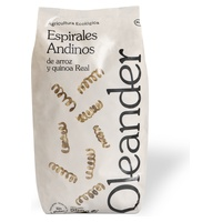 Andean rice spirals and real quinoa