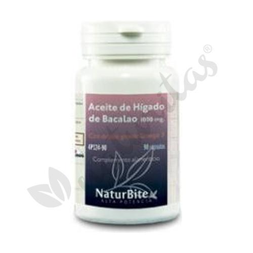 Aceite de Hígado de Bacalao 90 cápsulas 1000 mg de Naturbite
