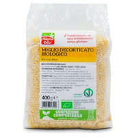 Gluten Free Organic Hulled Millet - Compostable Packaging