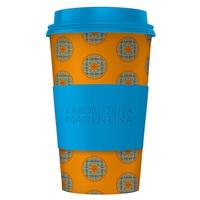 Mandala Cup - Orange and Blue Cup