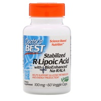 Ácido R-lipoico estabilizado con Na-RALA bioenhanced 100 mg