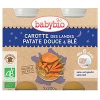 Petits Pots Bonne Nuit Carottes, Patate Douce & Blé Bio (dès 6 mois)