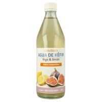 Agua de kéfir con higo y limón