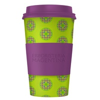 Mandala Cup- Light Green and Purple Cup
