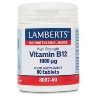 Vitamina B12 60 comprimidos de 1000 mg de Lamberts
