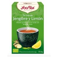 Té verde, jengibre y limón