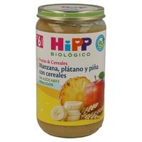 Tarrito de Fruta Bio Manzana, Plátano y Piña con Cereales (6 meses)