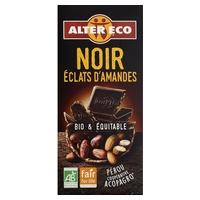 Chocolate negro con trocitos de almendras bio