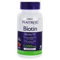 Biotina de disolución rápida 5000 mcg