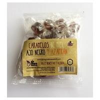 Caramelos Ajo negro miel y azafrán