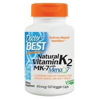 Natural Vitamin K2 MK7 with MenaQ7, 45mcg
