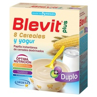 Blevit Plus Duplo 8 Cereals and Yogurt 5m +