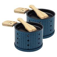 2 racletes de vela azul escuro