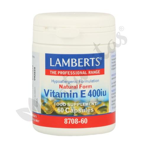 Vitamina E 60 cápsulas de Lamberts
