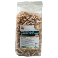Organiczne fusilli pełnoziarniste Cappelli z pszenicy durum