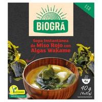 Sopa de Miso Rojo con Algas Wakame
