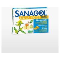 Sanagol -Garganta voz sabor a miel y limón