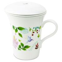 Zaparzacz do herbaty Eden z filtrem i pokrywką z cienkiej porcelany