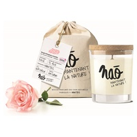 Large natural rose scented candle 40h