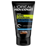 Men Expert Pure Charcoal Gel Exfoliante p.negros