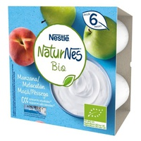 Nestlé Naturnes BIO Postre Lácteo Manzana y Melocotón