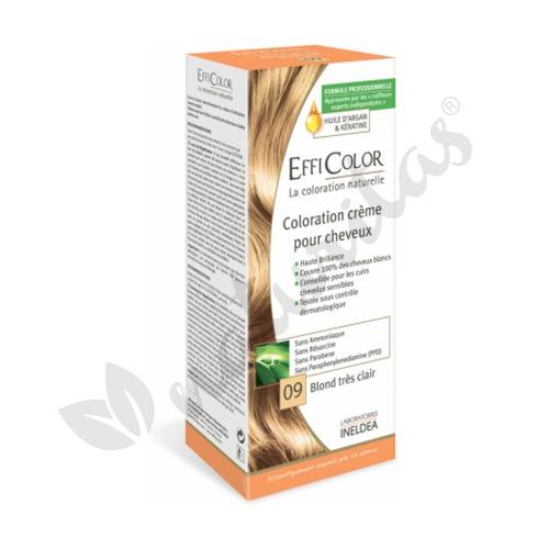 Crema Colorante Efficolor Rubio Extra Claro (Nº09)