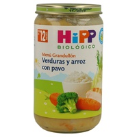Tarrito Bio Verduras y Arroz con Pavo (12 meses)