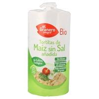 Tortitas de maíz sin sal añadida