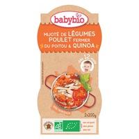 Ciotole Menu di verdure, pollo ruspante / quinoa biologica