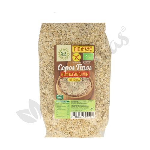 Copos de Avena finos Bio Sin Gluten Integral 500 gr de Solnatural